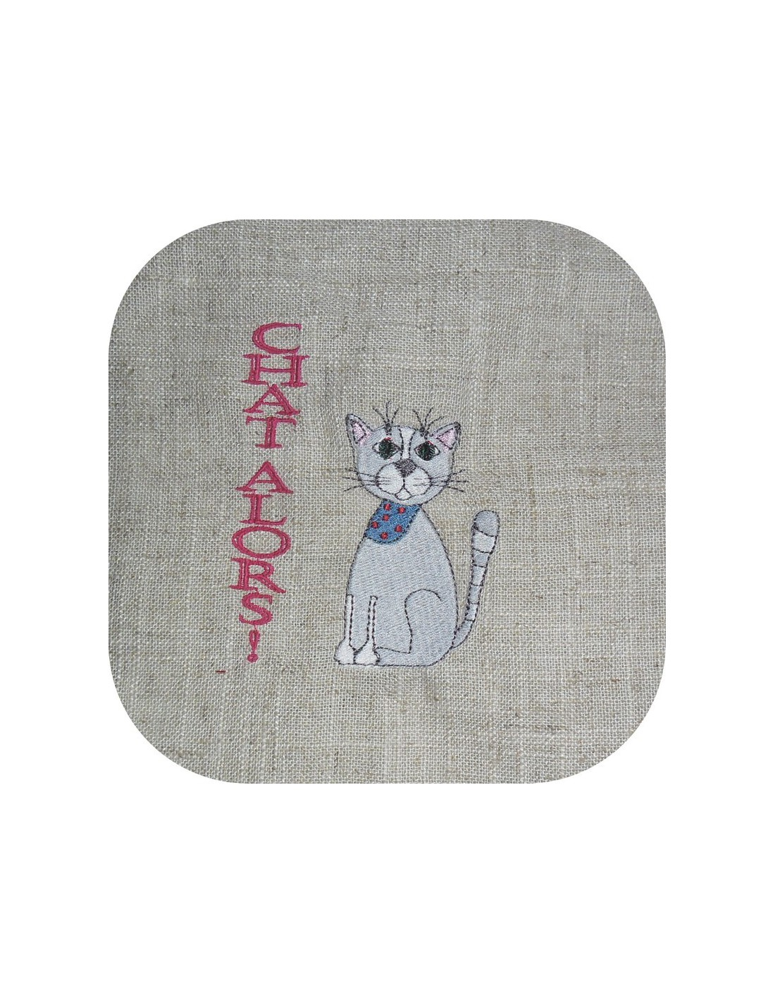 Instant Download Machine Embroidery Sitting Cat Alice