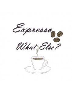 Motif de broderie machine café  Expresso