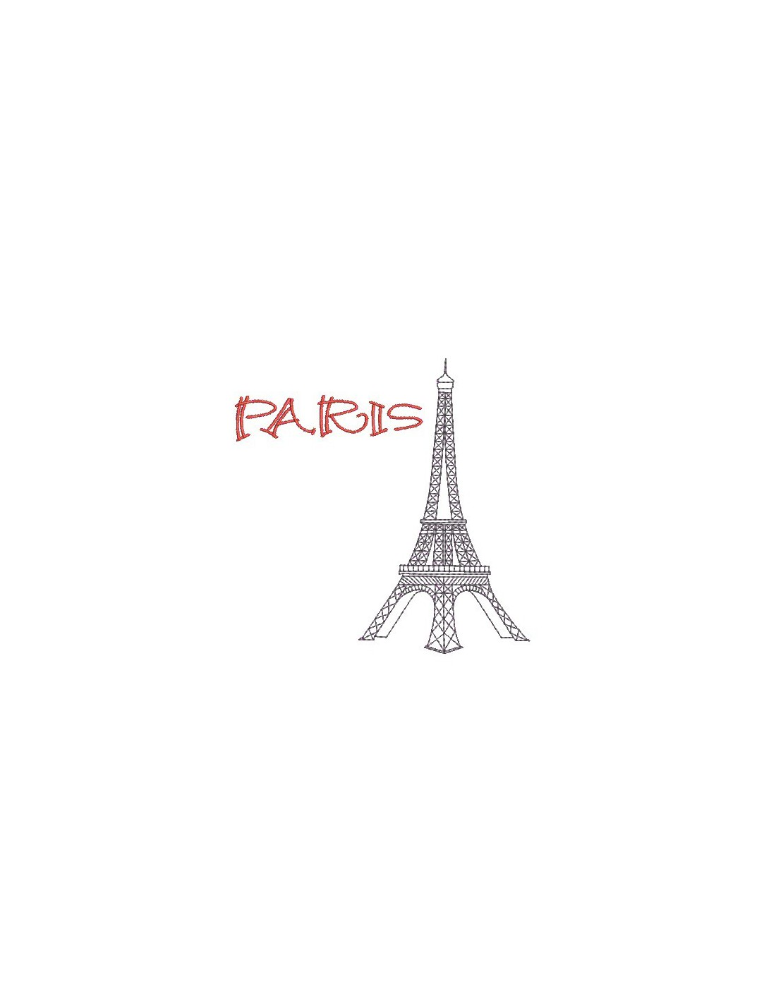 Embroidery Design Eiffel Tower Paris Alice Broderie