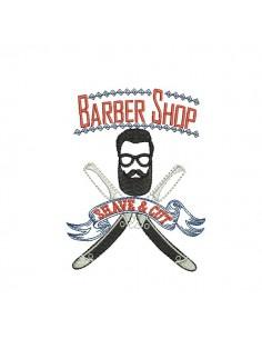 Motif de broderie machine Barbier
