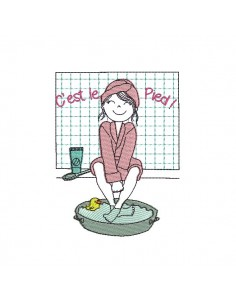 Instant download machine embroidery Hotel bath and spa