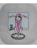 Motif de broderie machine bain de pied