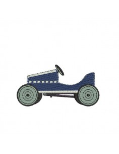 Instant download machine embroidery  Pedal car