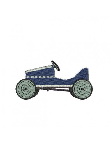 Motif de broderie machine voiture pédales