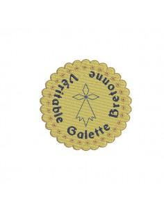 Motif de broderie machine galette bretonne