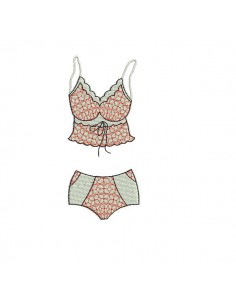 Instant download machine embroidery design Lingerie underwear