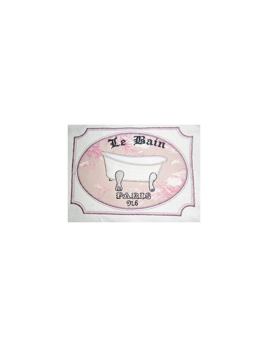 Flacon de parfum n1 10x10 cm alice broderie - Ancienne baignoire en 3 lettres ...
