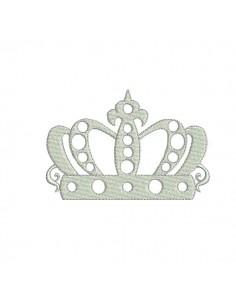 Motif de broderie machine couronne Marquise