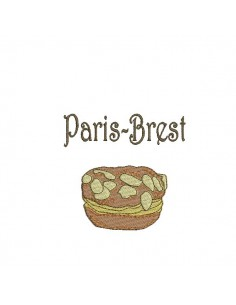 Instant download machine embroidery design Breton shortbread biscuits