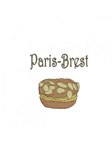 Motif de broderie machine gâteau Paris brest