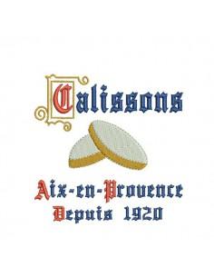 Motif de broderie machine Calissons