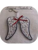 Motif de broderie machine  ailes d'ange ITH