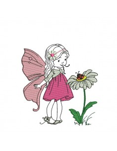 Embroidery design fairy