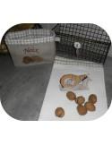 Motif de broderie machine jambon