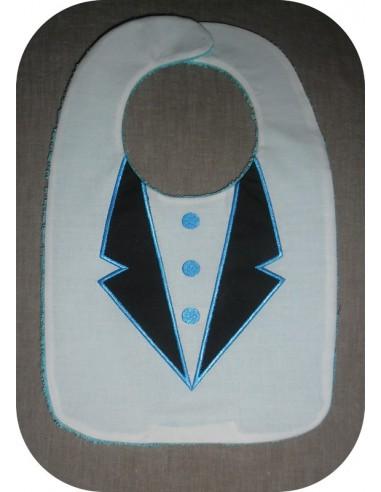 Motif de broderie machine Bavoir costume ITH