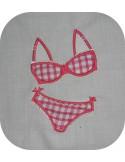 Motif de broderie machine   lingerie 2 pièces  appliqué