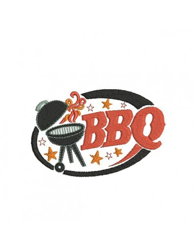 Motif de broderie machine Barbecue