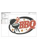 Motif de broderie machine Barbecue