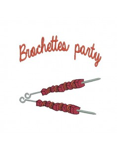 Motif de broderie machine Brochettes party