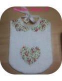 machine embroidery design  Bib collar festoon  ITH