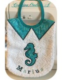 machine embroidery design  Bib collar polo  ITH