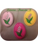 Instant download machine embroidery pink flower