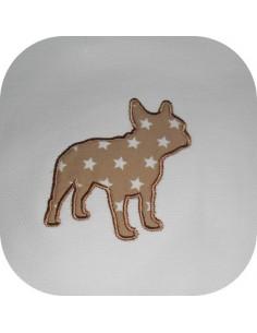 embroidery design applique bulldog