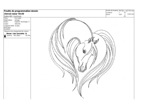 Instant download machine embroidery horse head