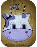 embroidery design fox bib ITH