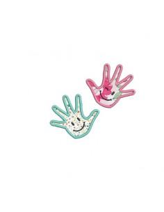 embroidery design applique Children hands with smileys
