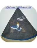 Instant download machine embroidery design ocean side