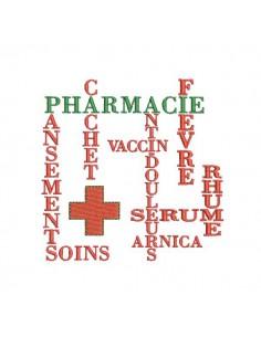 Motif de broderie machine Pharmacie