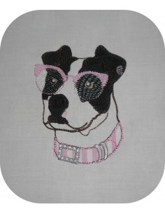 Instant download machine embroidery  pitbull