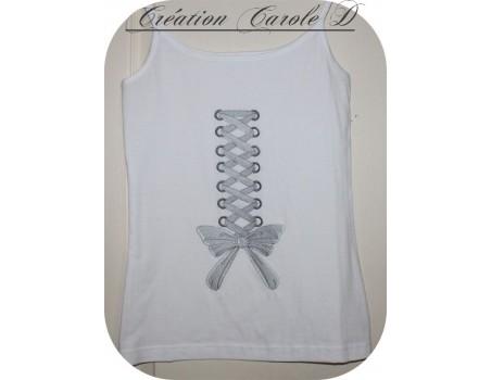 Motif de broderie machine ruban lacé