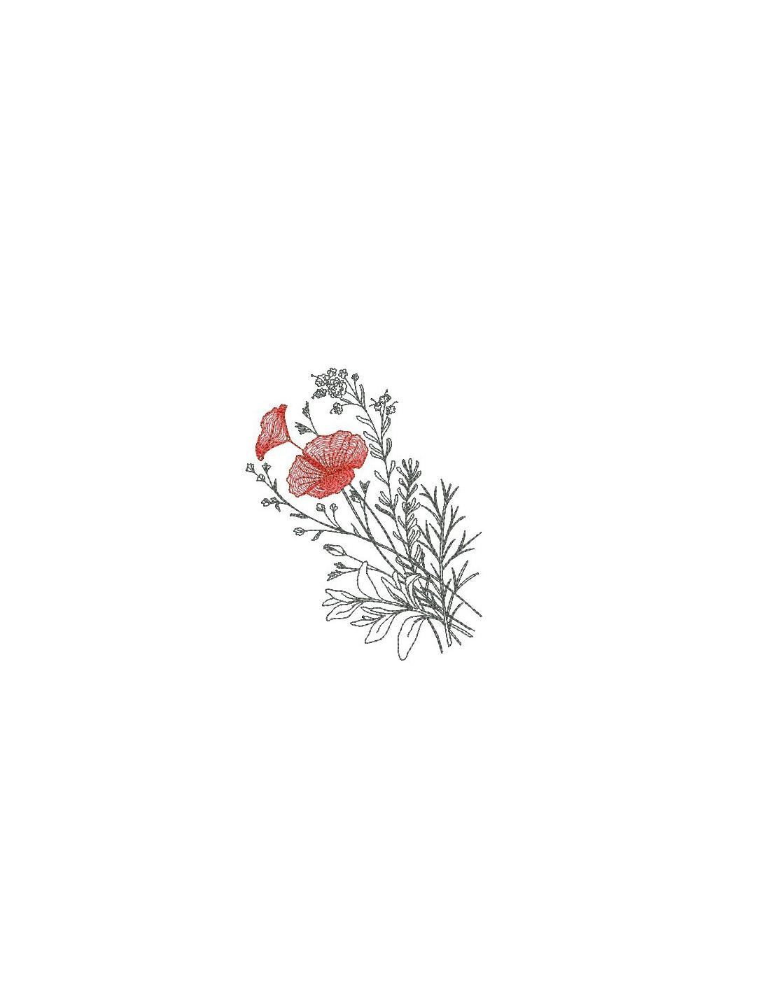 motif de broderie fleurs