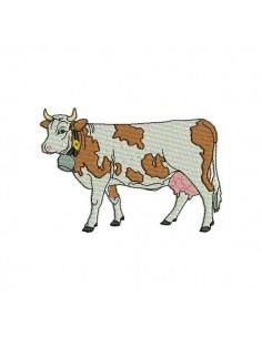 embroidery design cow bib ITH