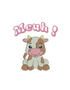 embroidery design cow