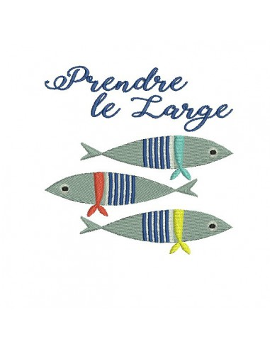 Motif de broderie machine sardines