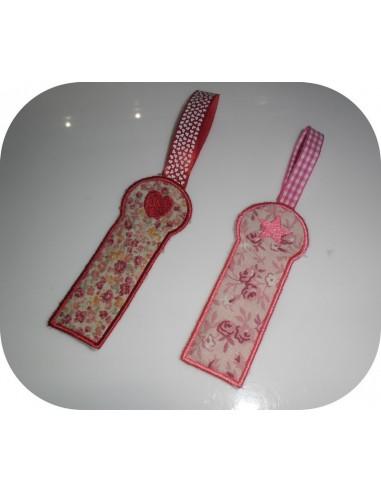 machine embroidery design Bracelet star  ITH