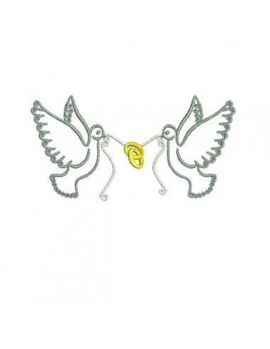 Instant download machine embroidery frame doves