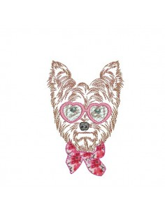 Instant download machine embroidery  Chihuahua dog