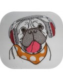 Instant download machine embroidery English bulldog