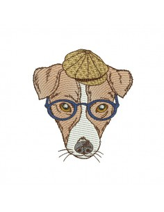 Instant download machine embroidery jack russel
