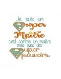 Motif de broderie super maître