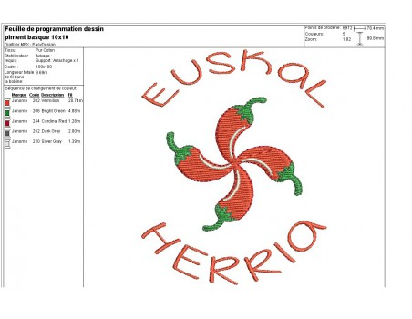 Instant download machine embroidery chilli pepper
