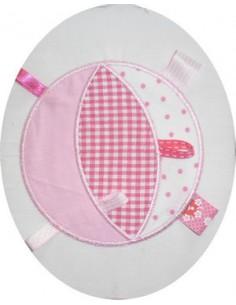 Motif de broderie machine Balle étiquette pour bébé 10x10cm