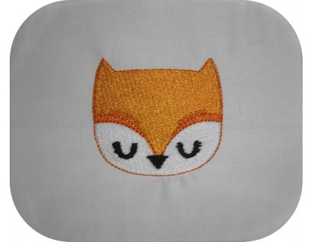 Instant download machine embroidery fox
