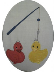 Motif de broderie machine La pêche aux canards