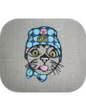Instant download machine embroidery  cat so cute applique