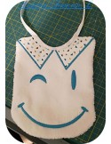 Instant download machine embroidery smiley wink